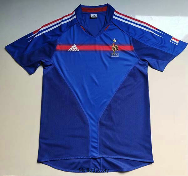 Vente Retro Maillot du France Coupe du Europe 2004 Domicile