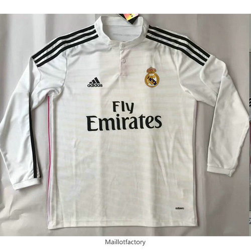 Prix Retro Maillot du Real Madrid Champions League 2014 Manche Longue