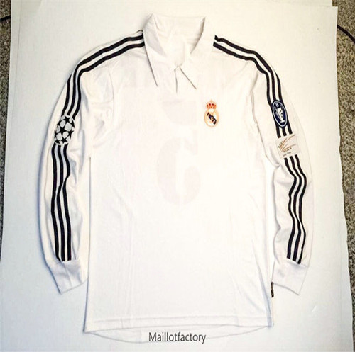 Achat Retro Maillot du Real Madrid 2002-03 Manche Longue