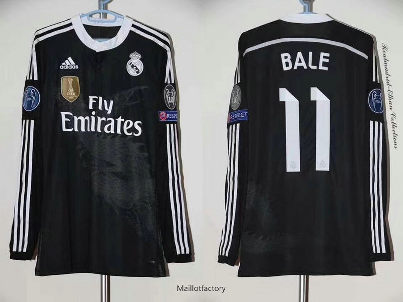 Achat Retro Maillot du Real Madrid 2014-15 Manche Longue Third (11 Bale)
