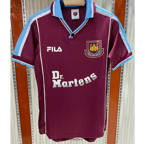 Flocage Retro Maillot du West Ham United 1999-01 Domicile