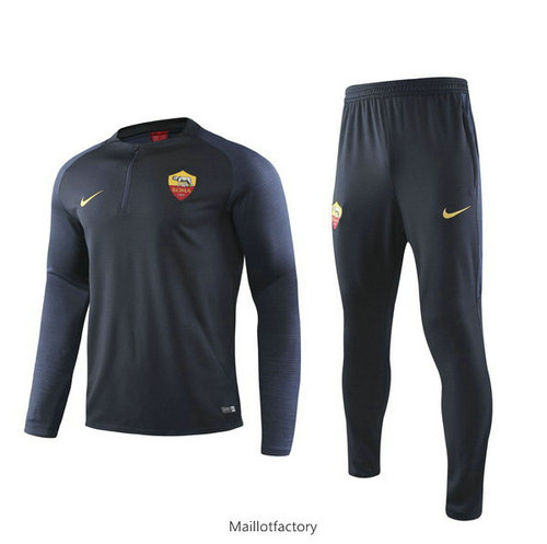 Achat Survetement AS Rome 2019/20 Bleu Marine sweat zippé