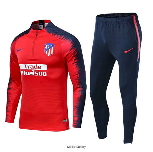 Pas cher Survetement Atletico Madrid 2019/20 Rouge + Short Bleu Strike Drill