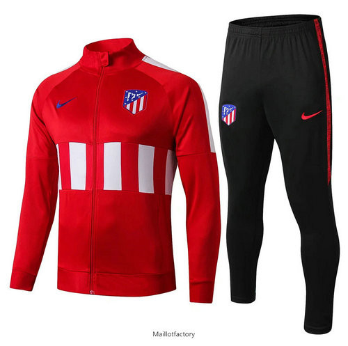 Flocage Veste Survetement Atletico Madrid 2019/20 Rouge Noir Col Rond