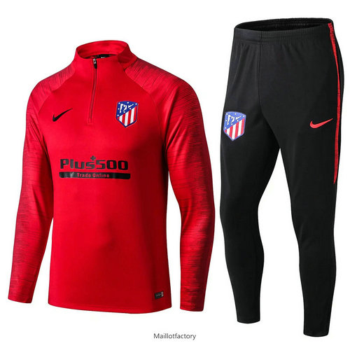 Vente Survetement Atletico Madrid 2019/20 Rouge/Noir sweat zippé