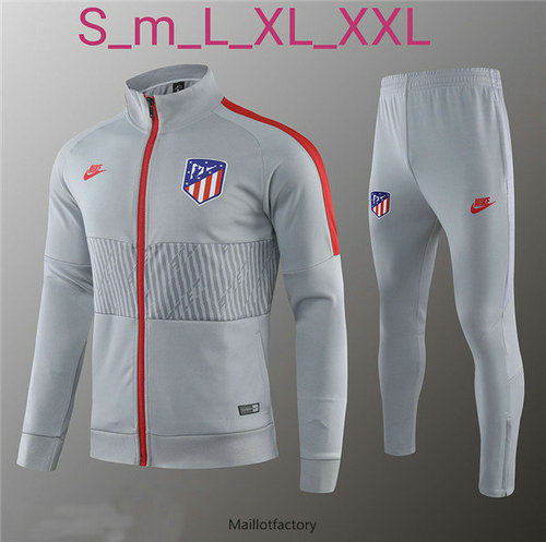 Pas cher Veste Survetement Atletico Madrid 2019/20 Gris