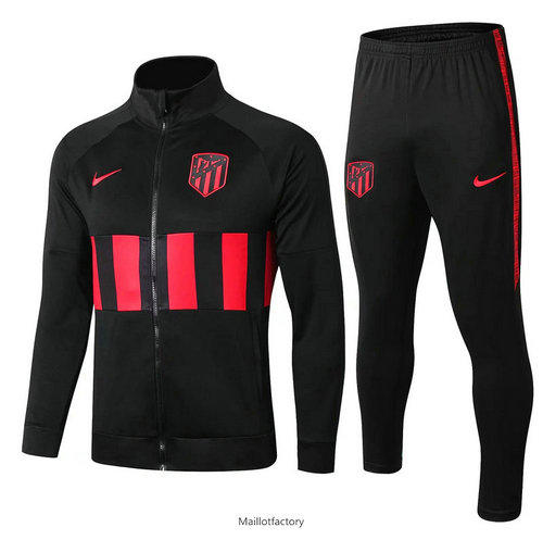 Flocage Veste Survetement Atletico Madrid 2019/20 Noir/Rouge bande
