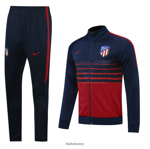 Vente Veste Survetement Atletico Madrid 2020/21 Bleu Marine/Rouge