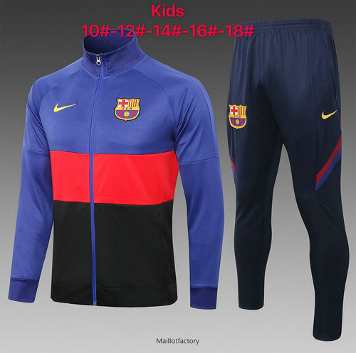 Vente Veste Survetement Enfant Barcelone 2020/21 Bleu/Rouge