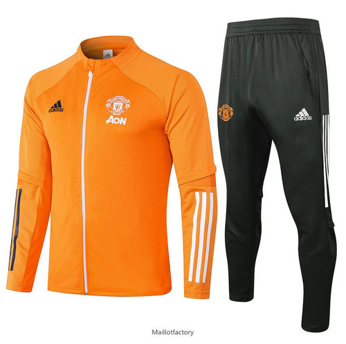 Prix Veste Survetement Enfant Manchester United 2020/21 Enfant Orange