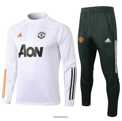 Vente Survetement Enfant Manchester United 2020/21 Enfant Blanc