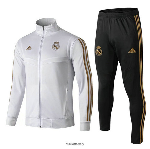 Flocage Veste Survetement Enfant Real Madrid 2019/20 Blanc/Noir