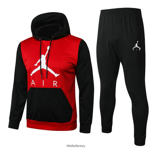 Flocage Sweat à capuche - Survetement Jordan 2020/21 Rouge/Noir