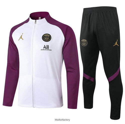 Vente Veste Survetement Jordan 2020/21 Blanc/Violet