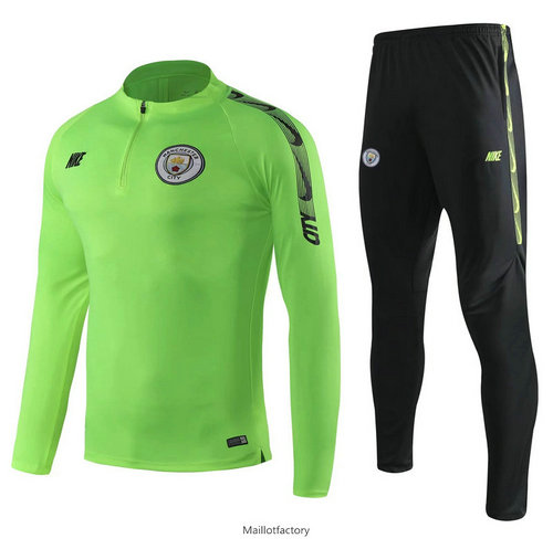 Vente Survetement Manchester City 2019/20 Vert + Short Noir