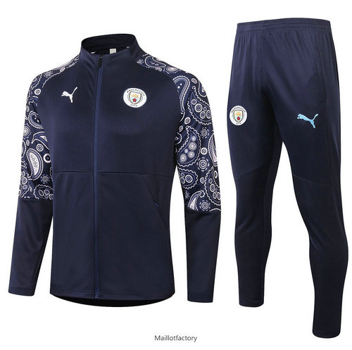 Vente Veste Survetement Manchester City 2020/21 Bleu Marine
