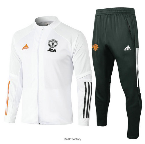 Achat Veste Survetement Manchester United 2020/21 Blanc