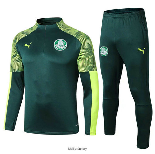 Vente Survetement Palmeiras 2019/20 Vert sweat zippé
