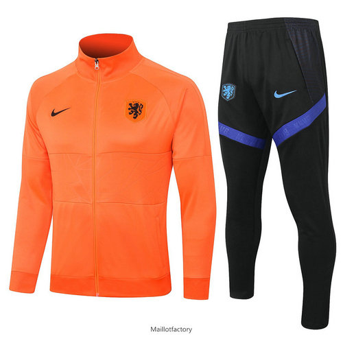 Soldes Veste Survetement Pays-Bas 2020/21 Orange