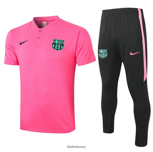 Achat Kit d'entrainement Maillot Barcelone POLO 2020/21 Rose