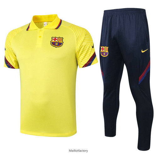 Achat Kit d'entrainement Maillot Barcelone POLO 2020/21 Jaune
