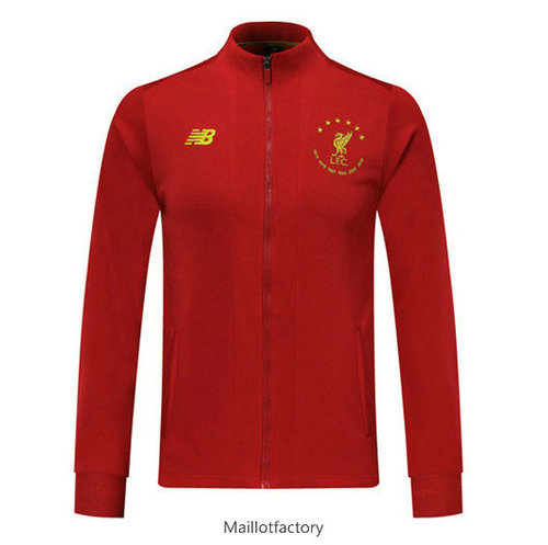 Soldes Veste Liverpool 2019/20 Six Times edition commemorative Rouge