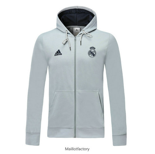 Prix Sweat à Capuche Real Madrid 2019/20 Gris clair