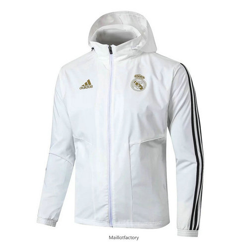 Soldes Coupe vent Real Madrid 2019/20 Blanc/Noir